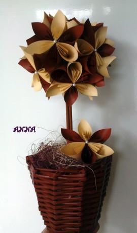 Цветы из бумаги к 8 марта.